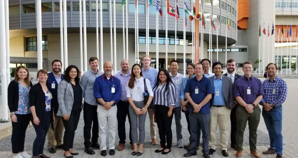 The group travelled on to Vienna to visit IAEA