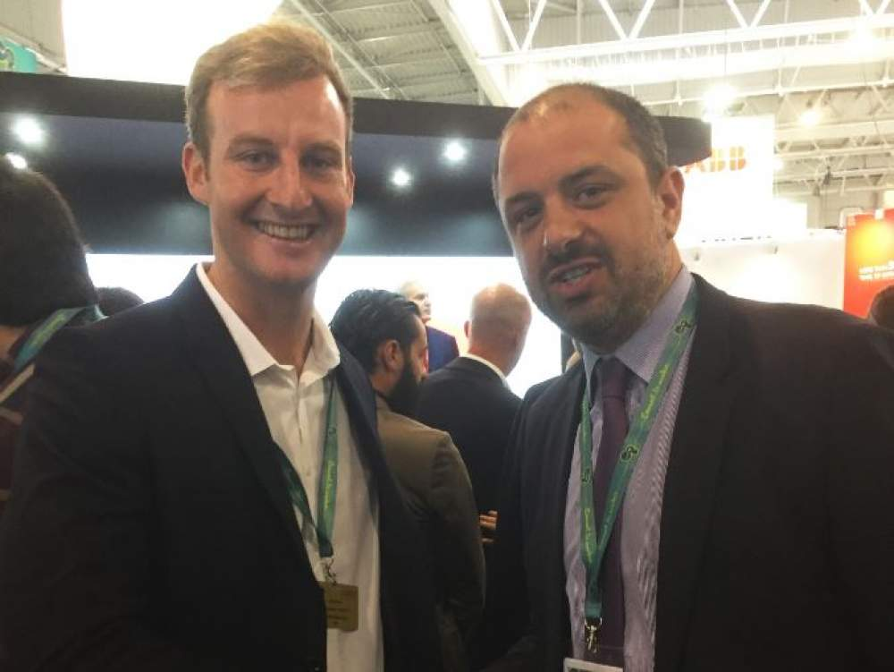 Paul Gavin, engineer at Urenco, and Laurent Odeh, Urenco's Executive Director of New Business